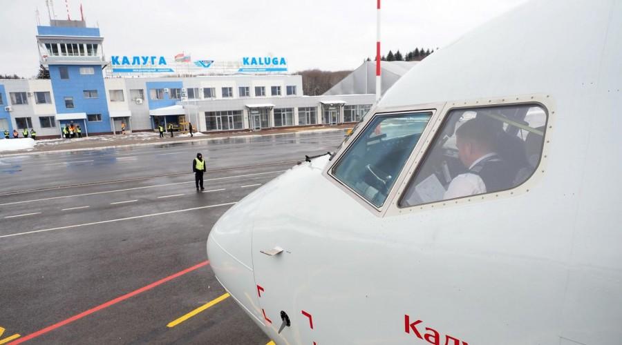 Боинг «Калуга» авиакомпании «Россия» приземлился в калужском аэропорту