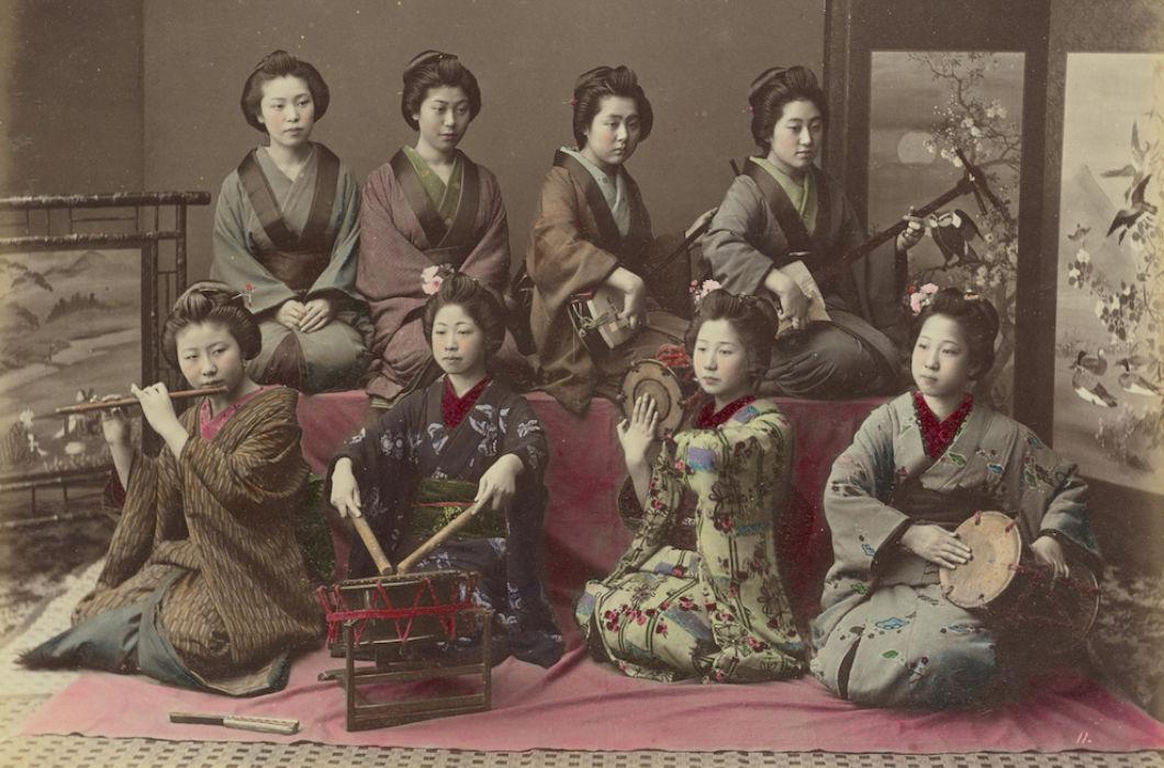 Япония в цвете на снимках XIX века
