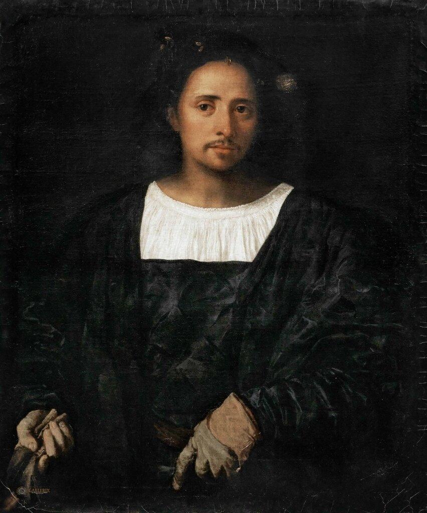 Мужчина с перчатками1517-20. 87x73
