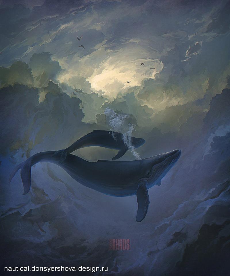 киты живопись