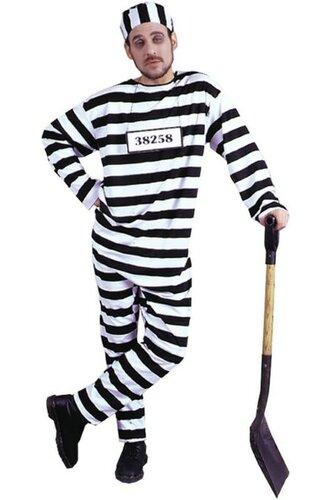 Мужской карнавальный костюм Заключенный полосатый