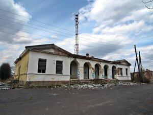 Каськово, здание почтовой станции после пожара, фото 2017 г