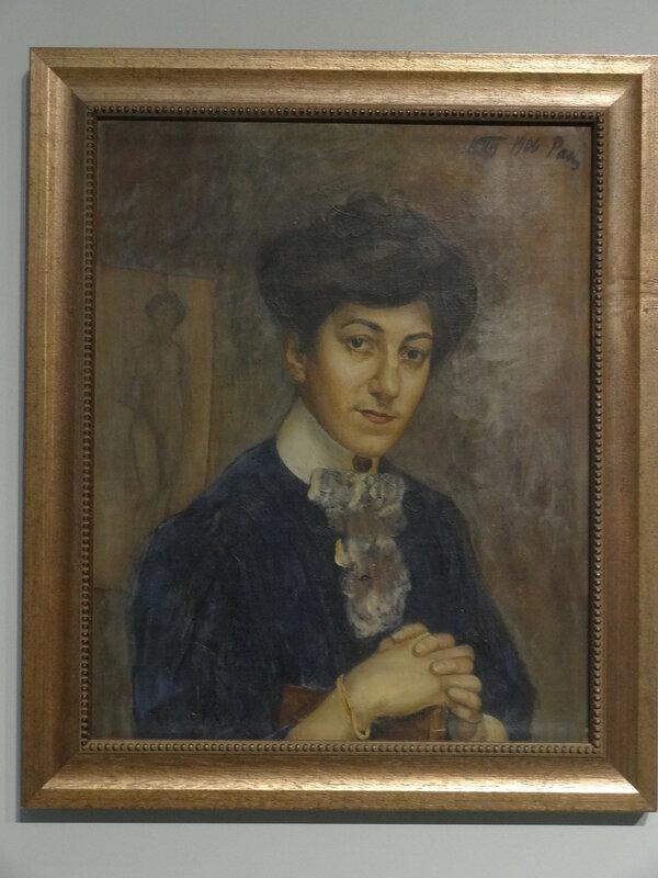 Кузьма Петров-Водкин Портрет жены. 1906 Художественный музей Эстонии.JPG