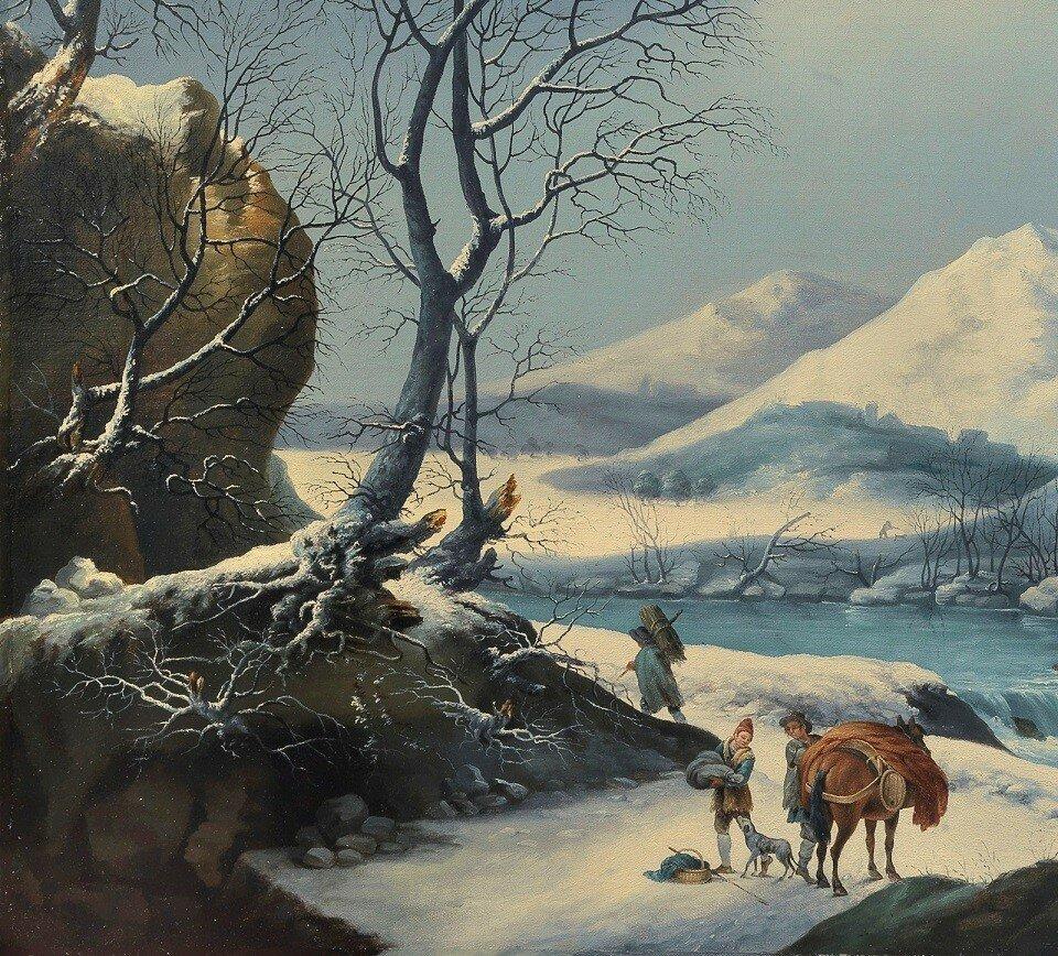 Погрузка лошади (Loading The Horse)_88.5 x 116.5_х.,м._Частное собрание_деталь.jpg