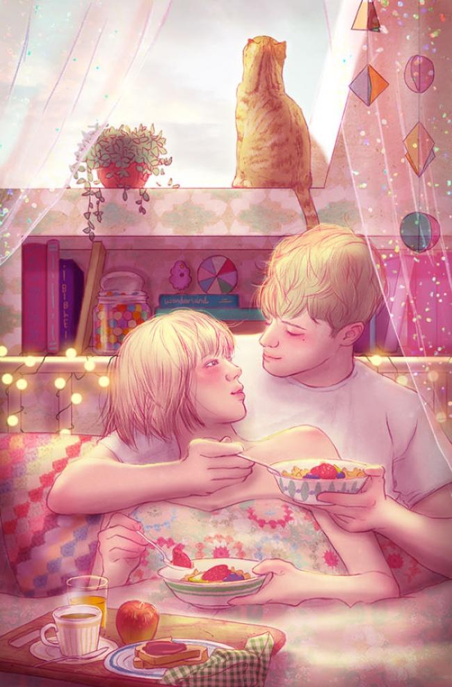 © Hyocheon Jeong   Это первый робкий поцелуй