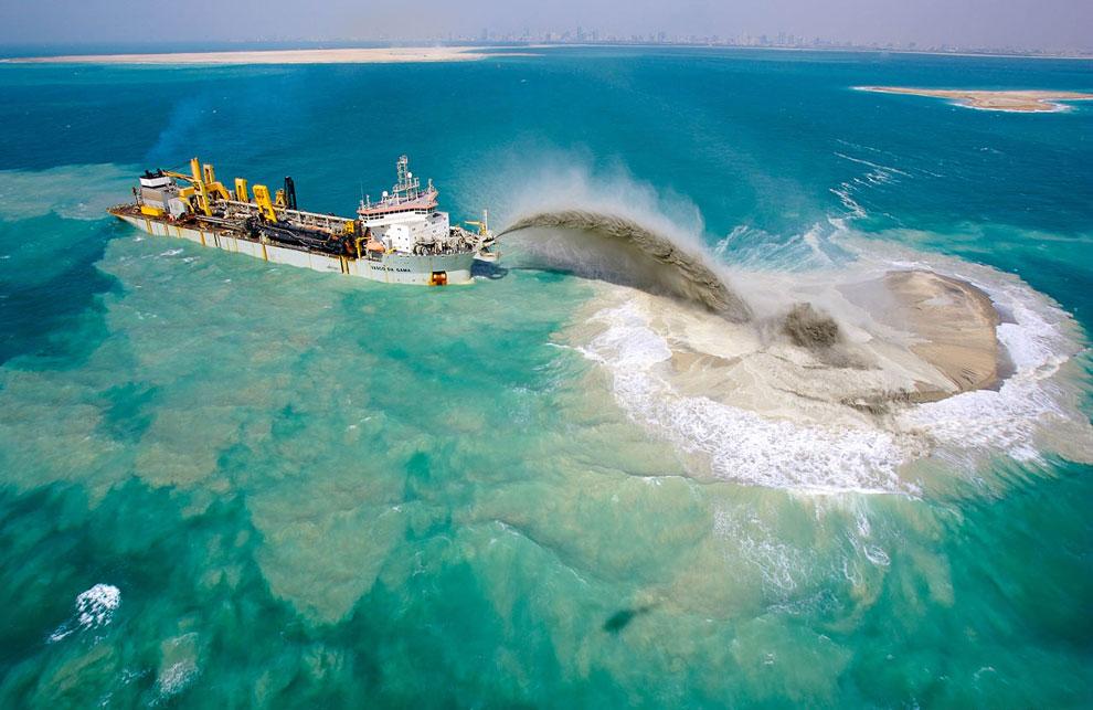 Пальма Дейра будет насыпана на глубине от 5 до 22 метров.