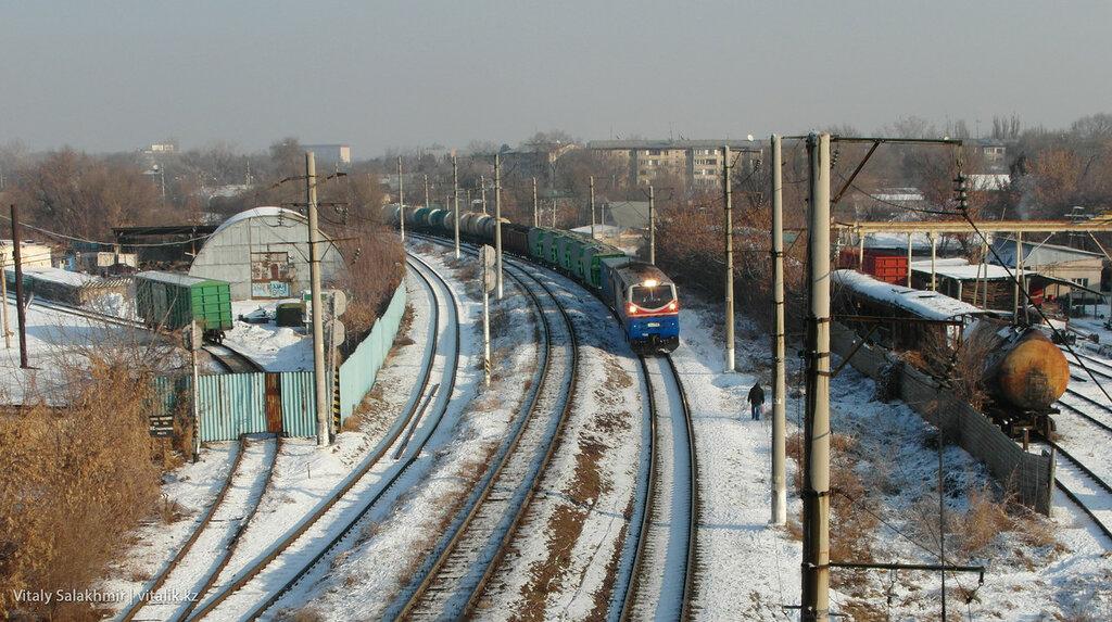 Поезд в Алматы.
