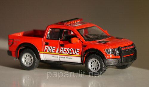 Kinsmart 2013 Ford F-150 SVT Raptor SuperCrew Fire Rescue