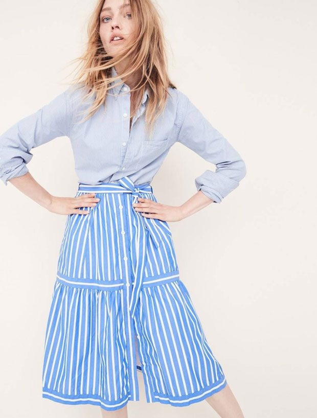 Supermodel Sasha Pivovarova Models The New J.Crew Denim Collection (9 pics)