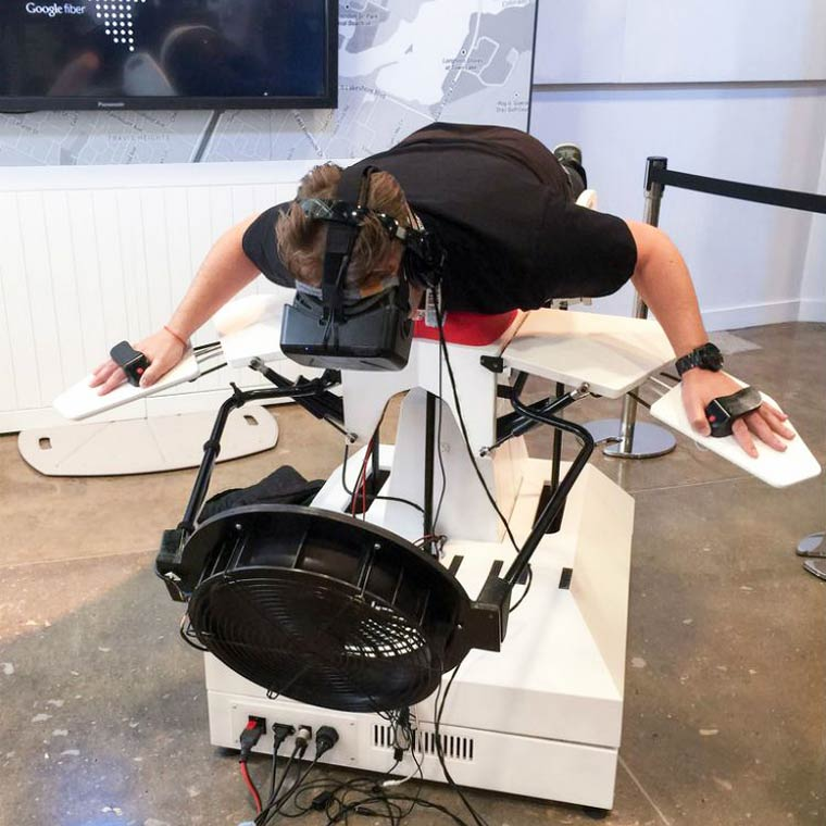 Birdly – This Oculus Rift simulator will let you learn how to fly like a bird