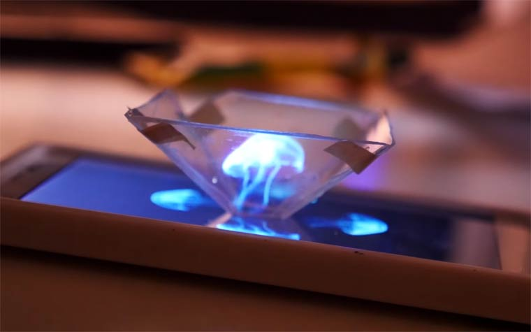 Hologram Projector – How to display 3D holograms on your smartphone