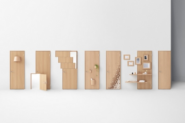 Creative Wooden Doors by Nendo (25 pics)