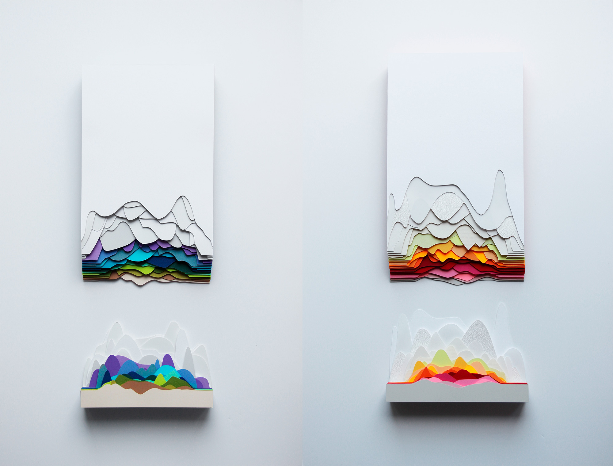Colorful Paper Foods and Patterns by Maud Vantours