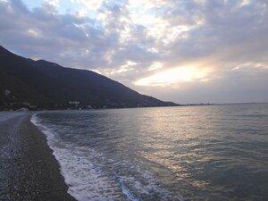 У моря Чёрного, в Абхазии, время зимнее, Новогоднее (7).JPG