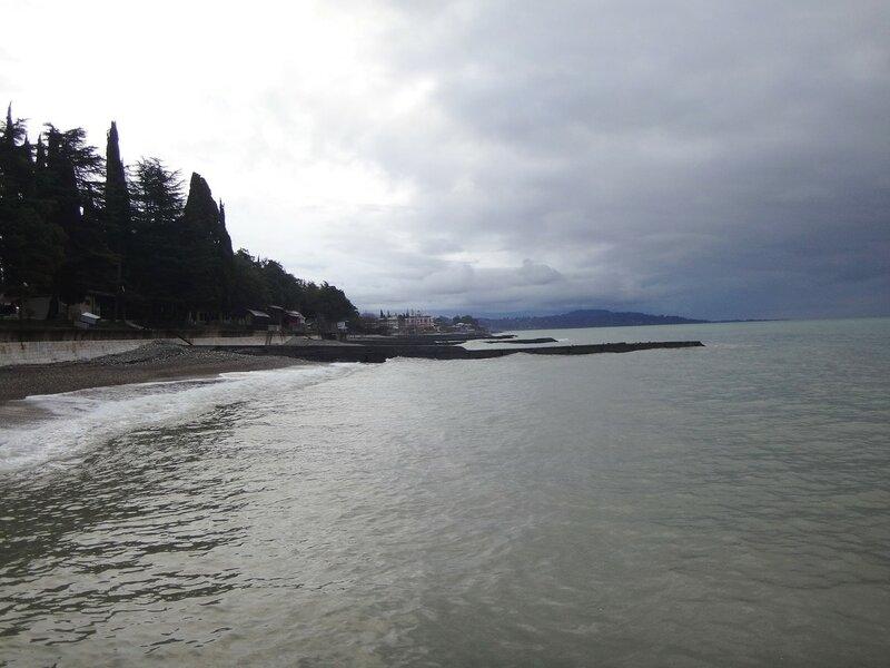 У моря Чёрного, в Абхазии, время зимнее, Новогоднее (20).JPG