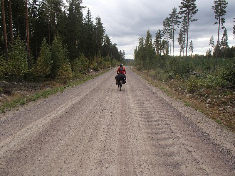 дорога к выходу Tervajarvi из парка Реповеси (Repovesi)