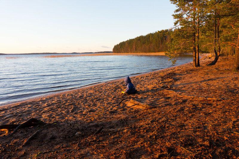 пляж Paihaniemi на берегу Саймы на острове Kattellusaari
