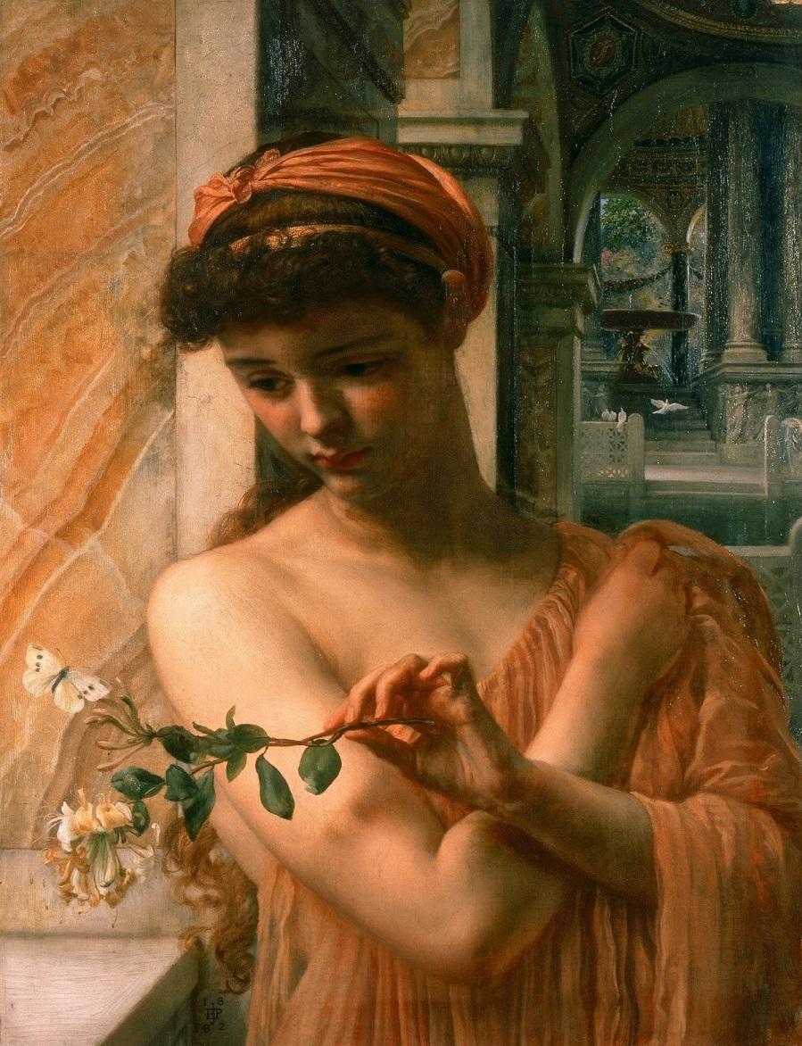 1882 Психея в храме любви Ливерпуль, Художественная галерея Уолкера.