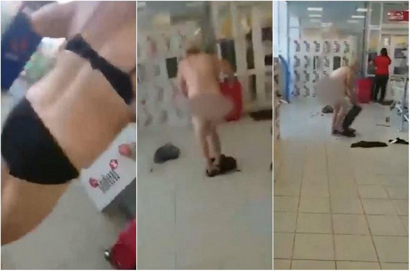 Женщина разделась в магазине после того, как ей запретили курить неоплаченные сигареты
