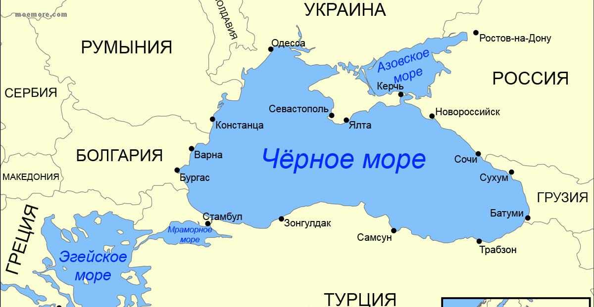 День Черного моря. Карта Черное море