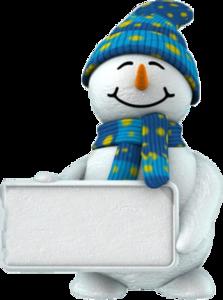 зимний декор, зимние вывески
