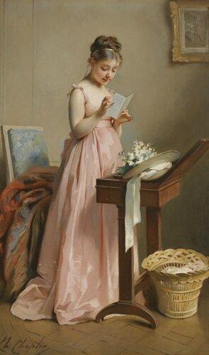 Девушка, читающая письмо. 42 х 26 см. частная коллекция.jpg