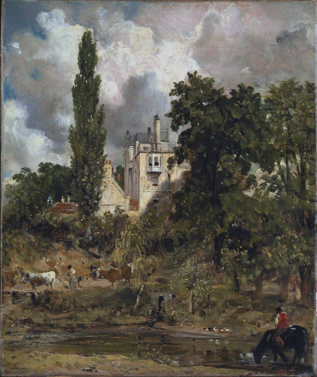 The Grove, Hampstead c.1821-2 by John Constable 1776-1837