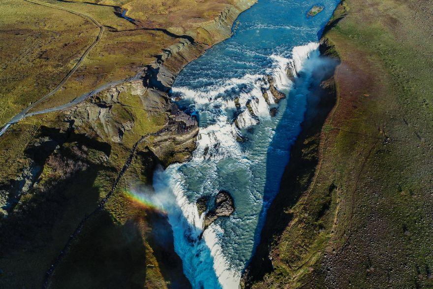 Гюдльфосс — самый знаменитый водопад Исландии. Автор фото: Vaidas Geguzis.