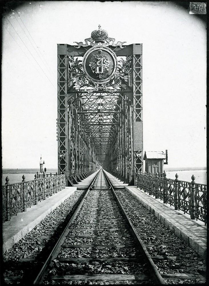 36. Александровский мост через Волгу в Сызрани. 1894 г. Негатив 18×24см.