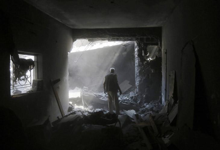 До 17 июля действия Тель-Авива в рамках операции «Нерушимая скала» сводились к дистанционным ударам