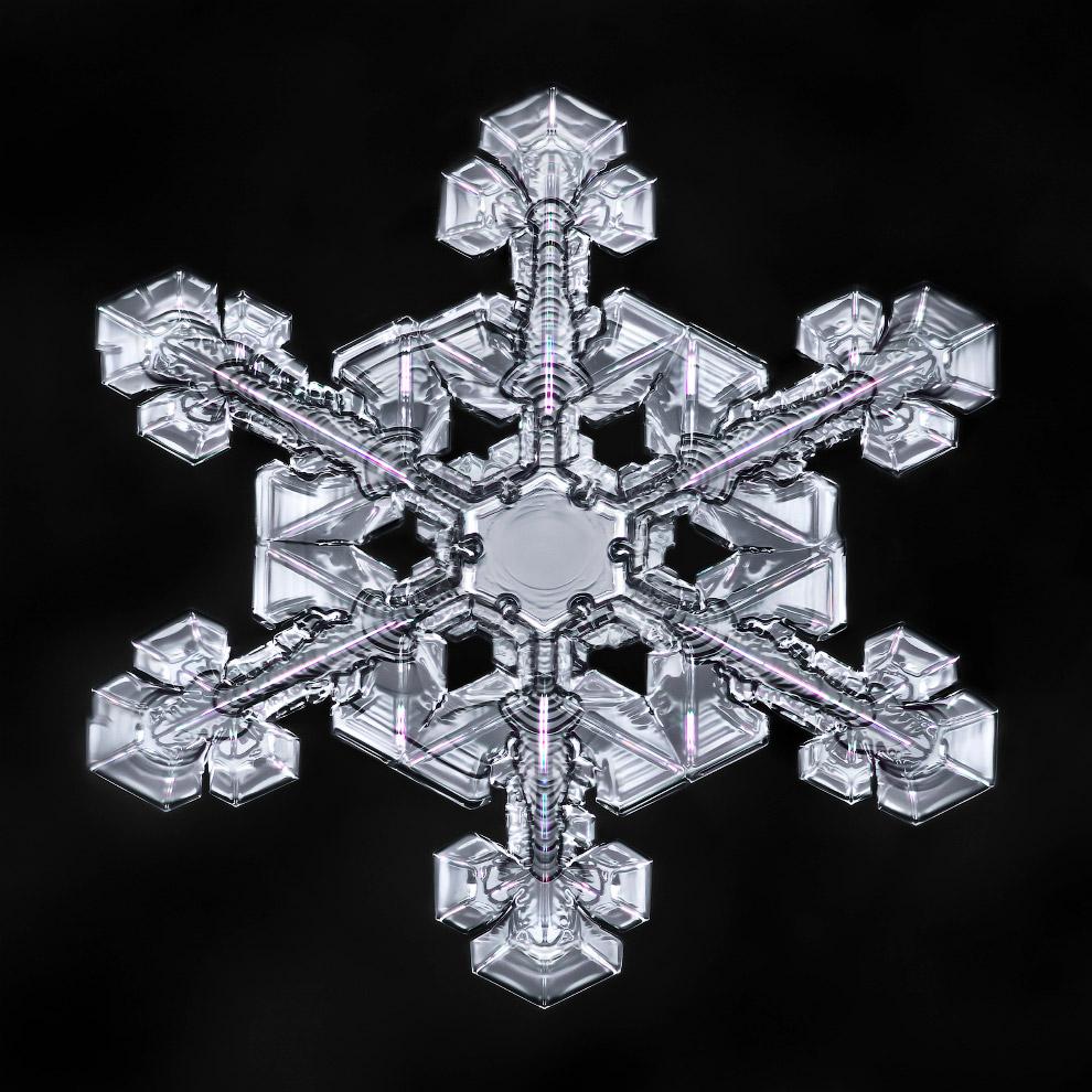 5. Если взглянуть на снежинки при помощи электронного микроскопа, то мы увидим примерно следующее: