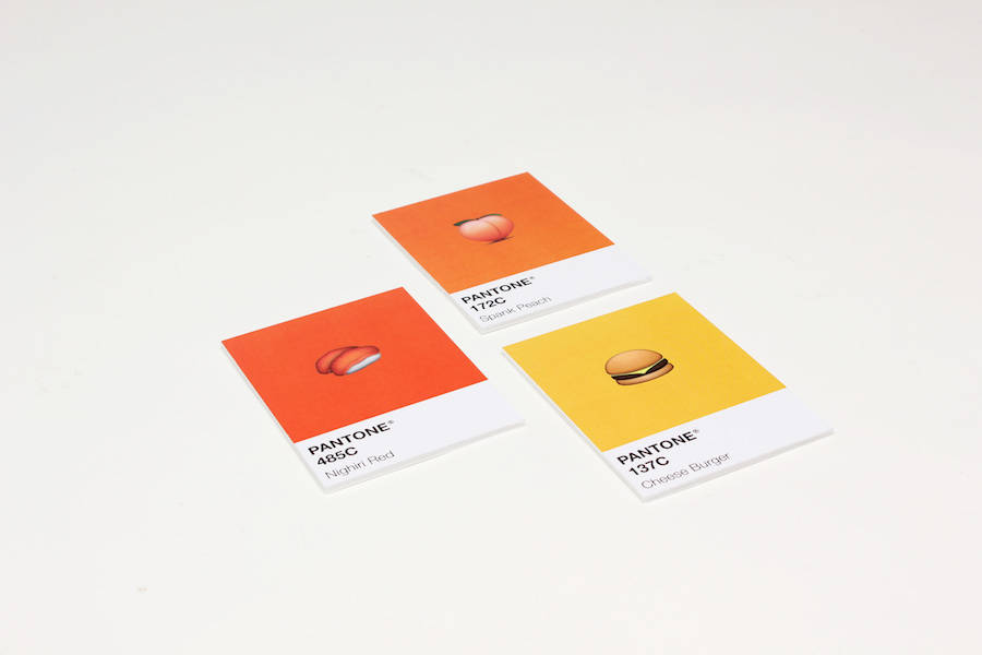 Pantone Cards with Emojis (10 pics)
