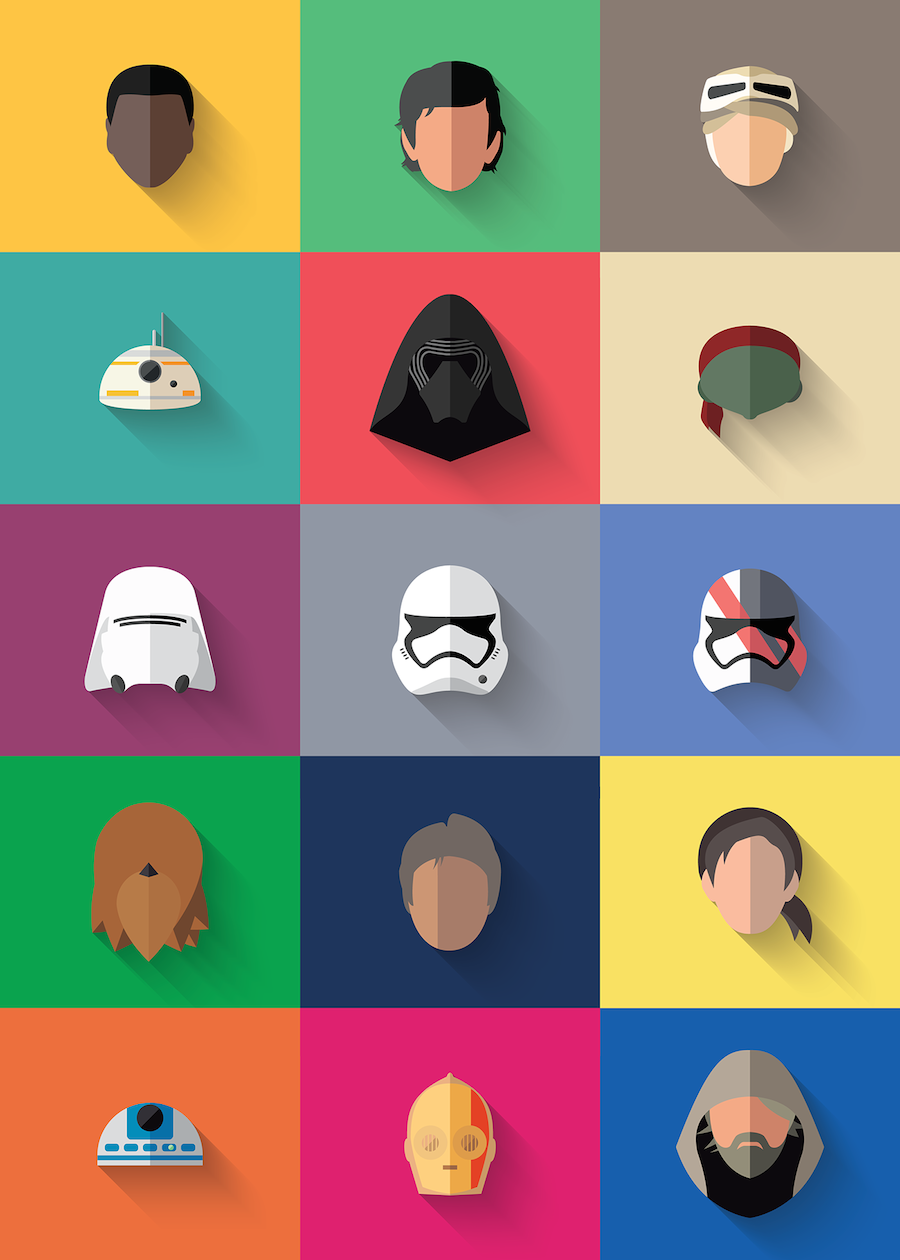 Star Wars The Flat Awakens Icons (18 pics)