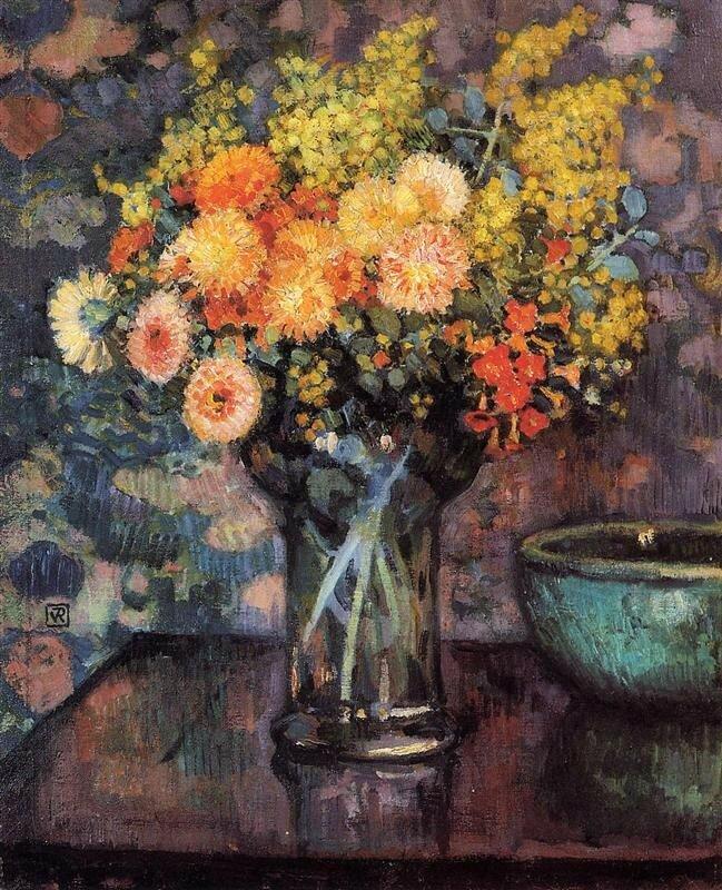 vase-of-flowers.Theo van Rysselberghe.