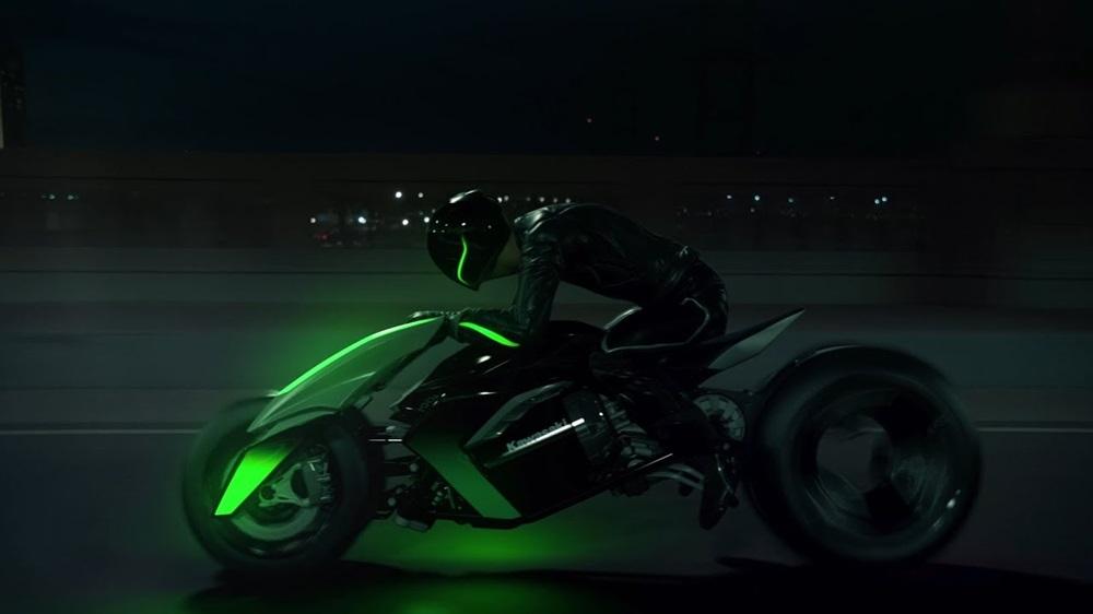 Старый концепт Kawasaki в новом видео