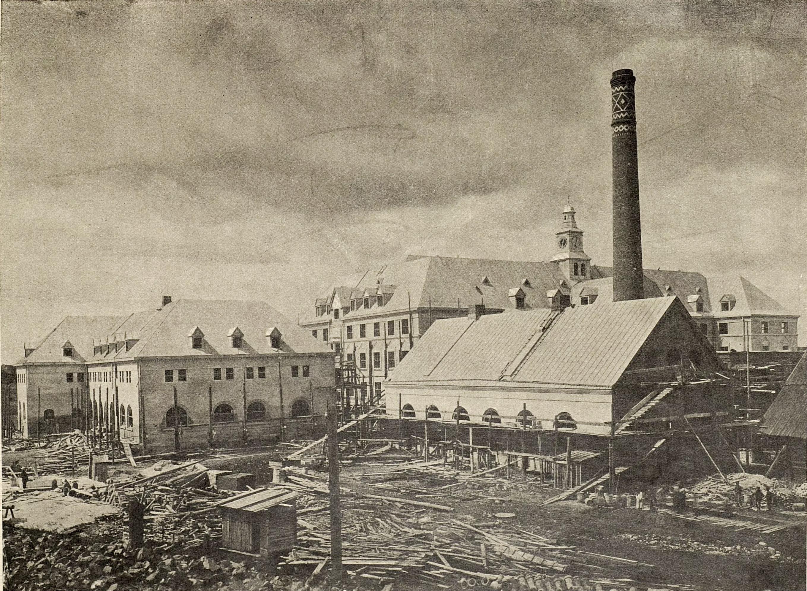 Дом имени Е. И. Мешковой. Дополнительные здания и электрическая станция