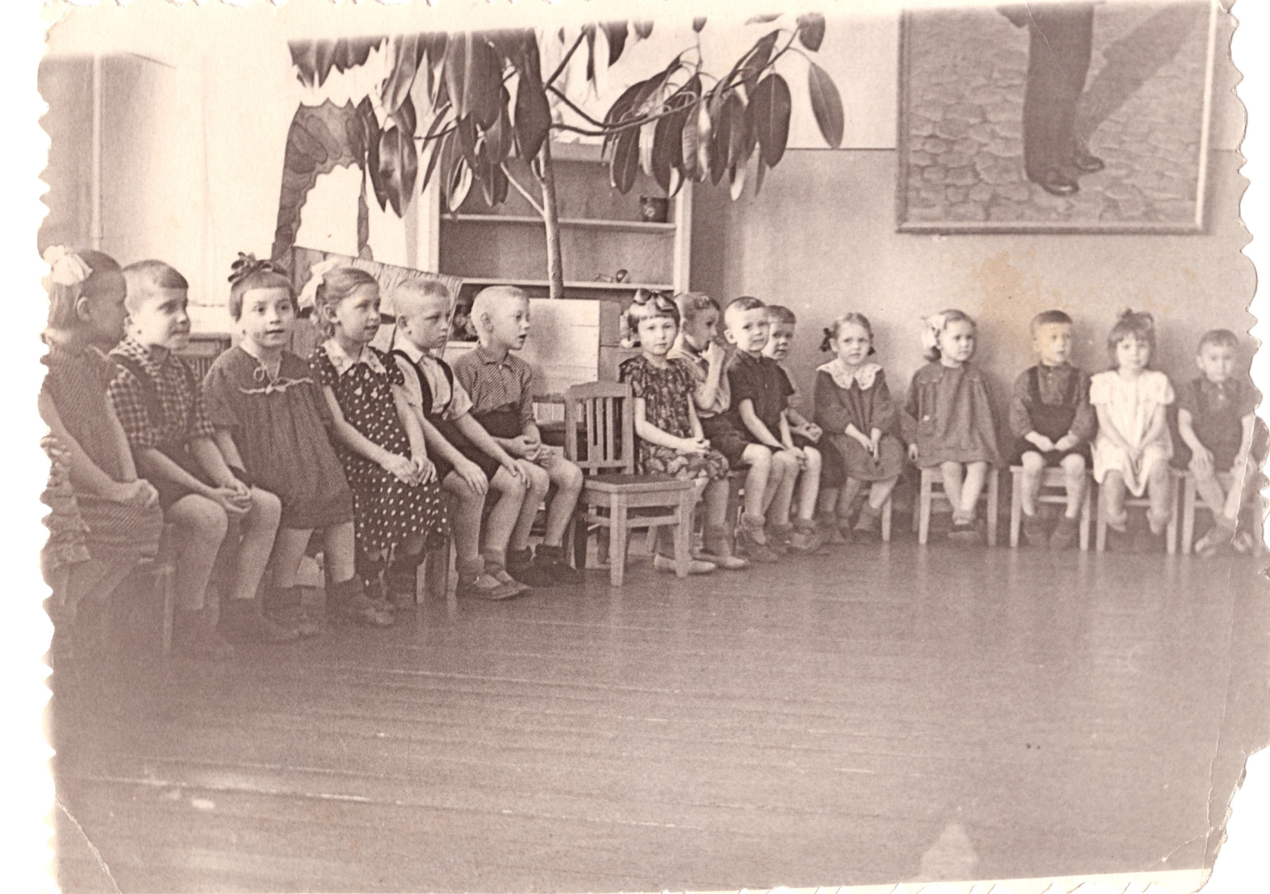 1950-е. Утренник в детском саду 169 (ул. Овчинникова).