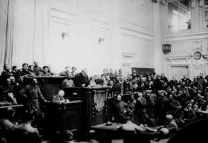 Выступление военного министра А. И. Гучкова на I-м Съезде делегатов флота в Гельсингфорсе. Март 1917