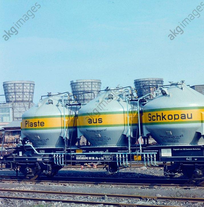Gьterwagen/Buna-Werke/Schkopau/Foto 1974 - -