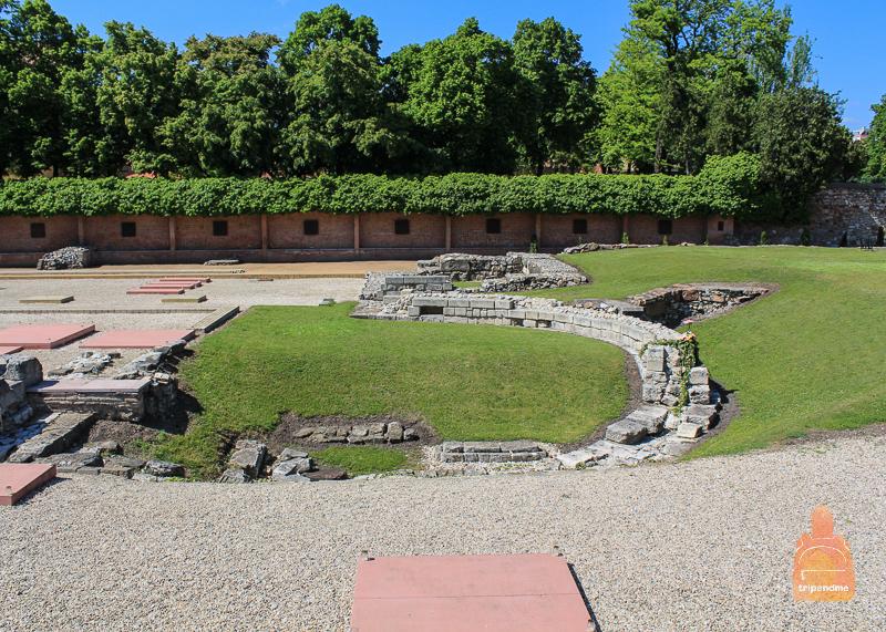 Сад руин сегодня представляет собой музей под открытым небом