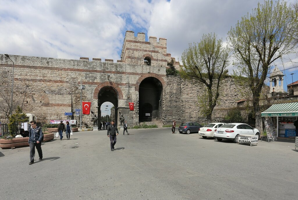 Istanbul. St. Roman's gate or the Fifth military gate or (Beşinci Askeri Kapı)