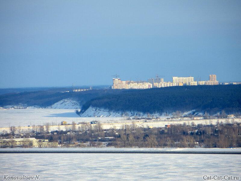 Заснеженная волга, зима 2018