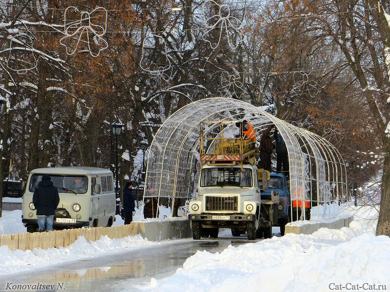 Предновогодняя подготовка, зима 2018