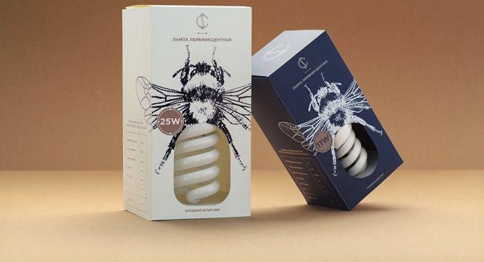 Креативная упаковка для лампочек
