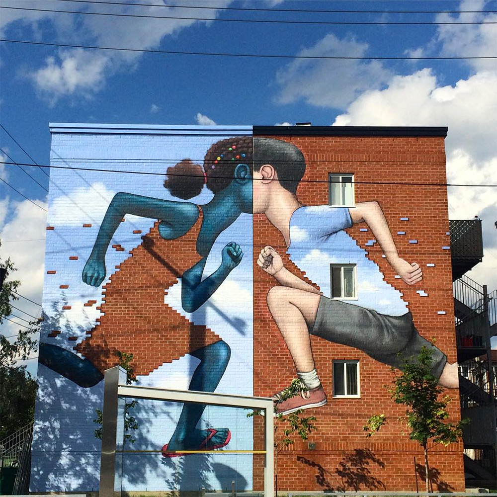 A New Mural by Seth Globepainter on the Streets of Montreal