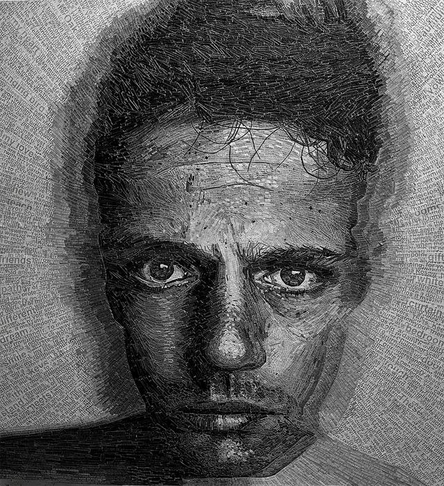 Shredded Poetry Portraits - Jamie Poole