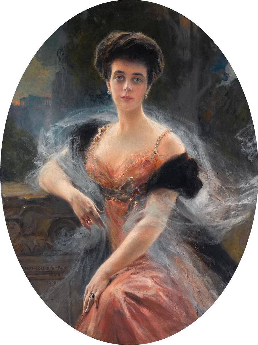 PORTRAIT OF GRAND DUCHESS ELENA VLADIMIROVNA OF RUSSIA , 1905.