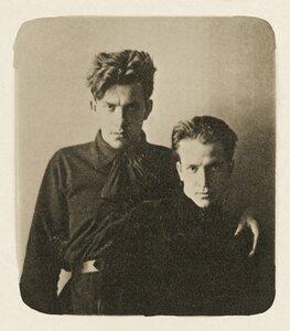 1912. В.В. Маяковский с Л.Л. Кузьминым. Москва