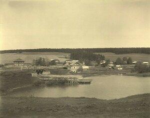 Вид местности с мельницей около с. Ильинского, 1912