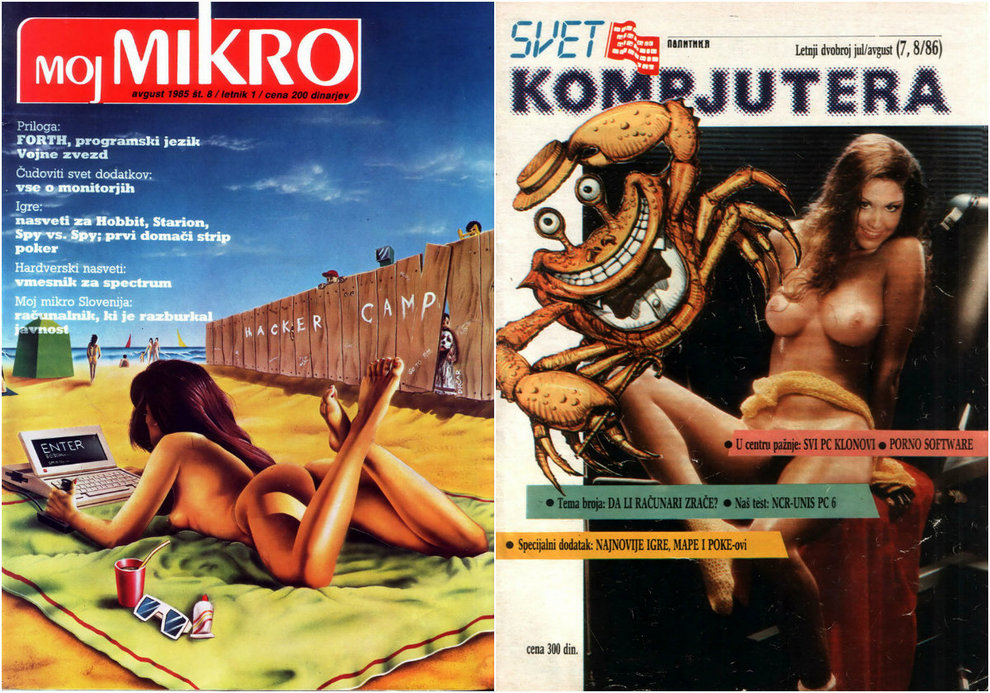 Covers computer magazines 90s
